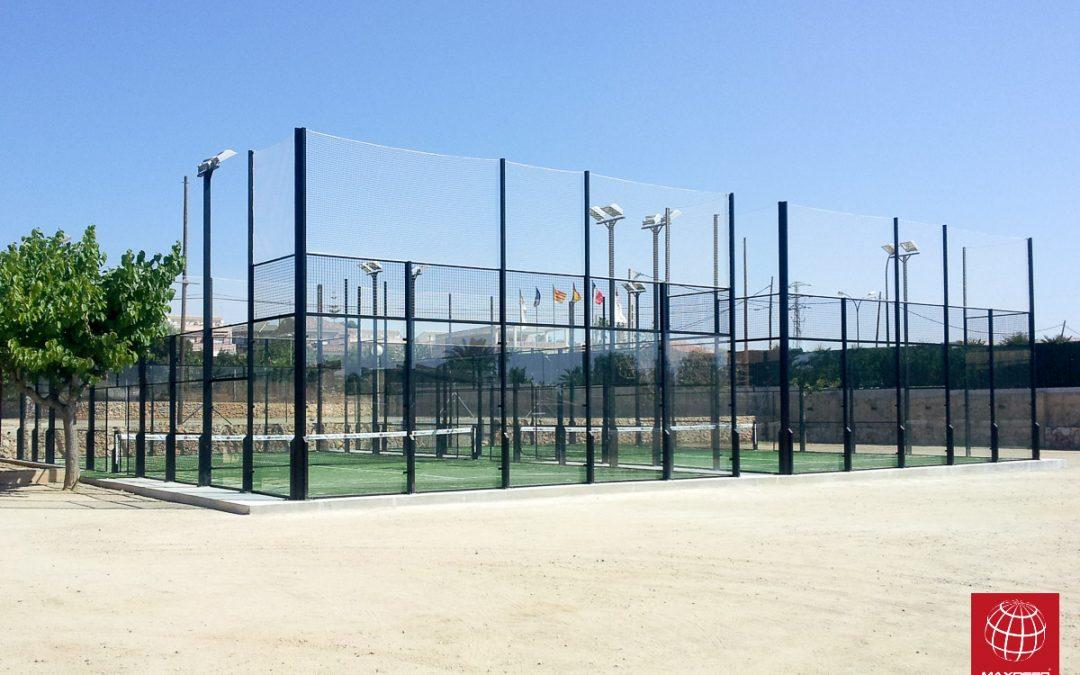 Construcción de dos Pistas de Pádel MX150 en el Camping l'Alba