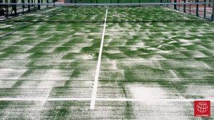 Cambio de césped de pádel en la Penya Esports (Penya Arlequinada)