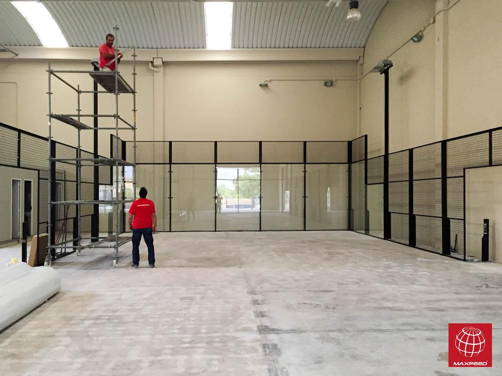 construcci n de una pista de p del en el padel indoor reus