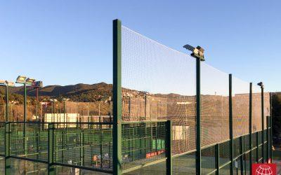 Instalación de redes de protección en Tennis Club Badalona