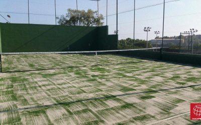 Cambio de césped de pádel en el Club Tennis Barcelona Teià