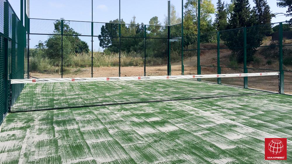 Maxpeed construye la primera pista de pádel en el Club Tennis Ribes