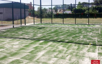 Nuevo césped Poliflex 12/28 en Club Tennis Lleida
