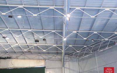 Nueva iluminación en el pabellón del CE Laietà