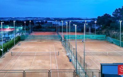 Las pistas de tenis del CT Malgrat estrenan iluminación LED