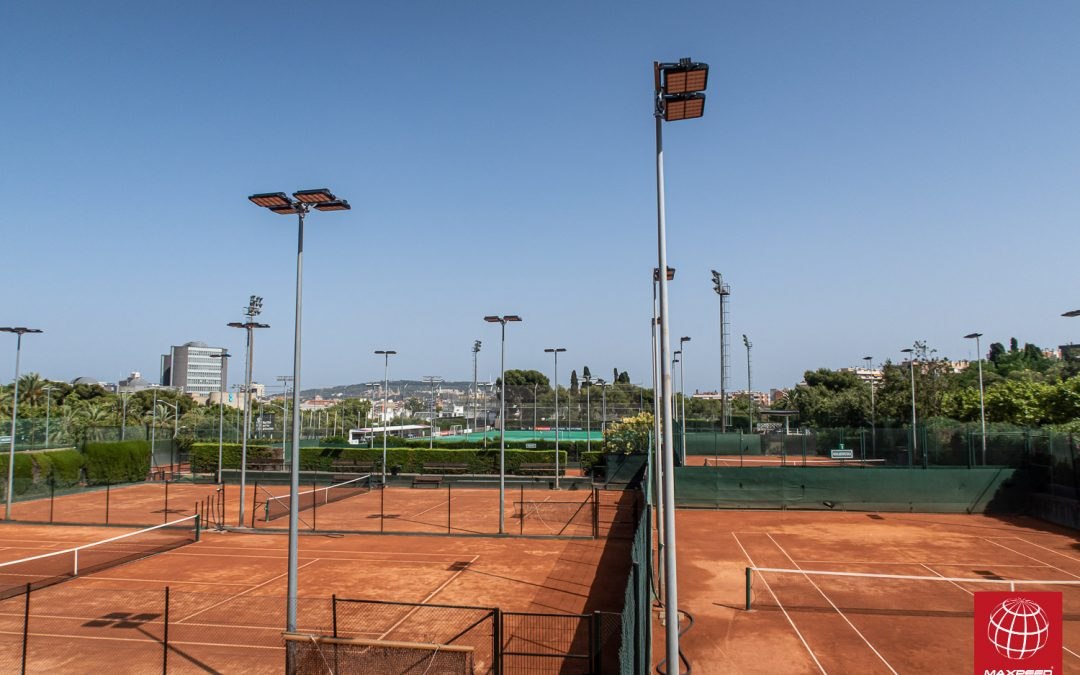 Nuevas LEDs en 10 pistas de tenis del Polo Barcelona
