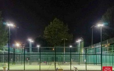 Club Tennis la Riera estrena iluminación LED
