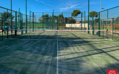Club Tennis Costa Brava renueva el césped de su pista de pádel nº3