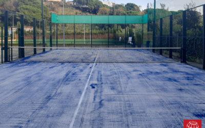 Renovación del césped de una pista de pádel del Club Tennis Sant Pol de Mar