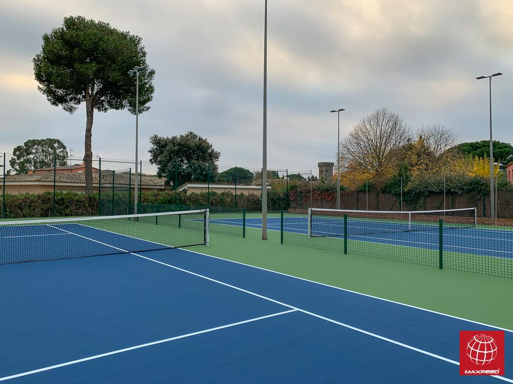 Construcción de dos pistas de tenis de resina en el CT Costa Brava