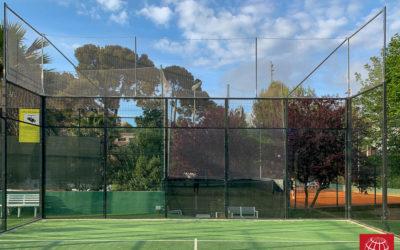 Instalación de redes de protección en el C. E. Hispano Francès