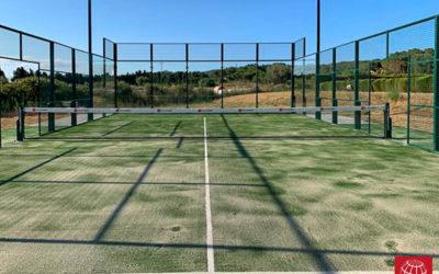 Construcción de una pista de pádel MX-150 Competición en Club Tennis Llafranc