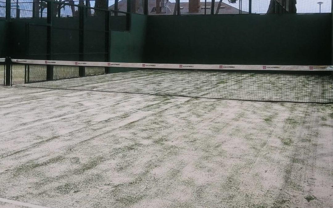 Maxpeed renueva el césped de la pista de pádel nº3 del Club Tennis Andrés Gimeno