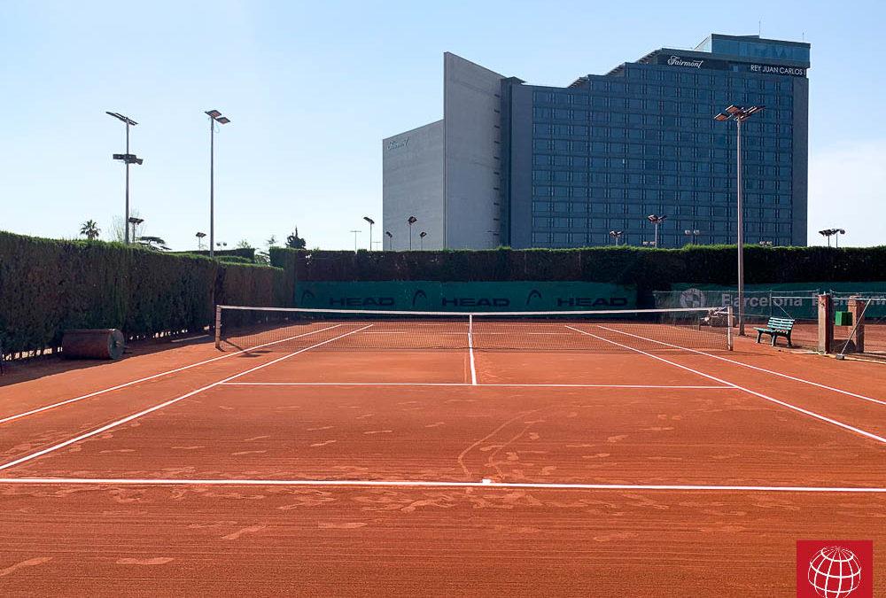 Maxpeed ha renovado tres pistas de tenis de tierra batida en el David Lloyd Turó