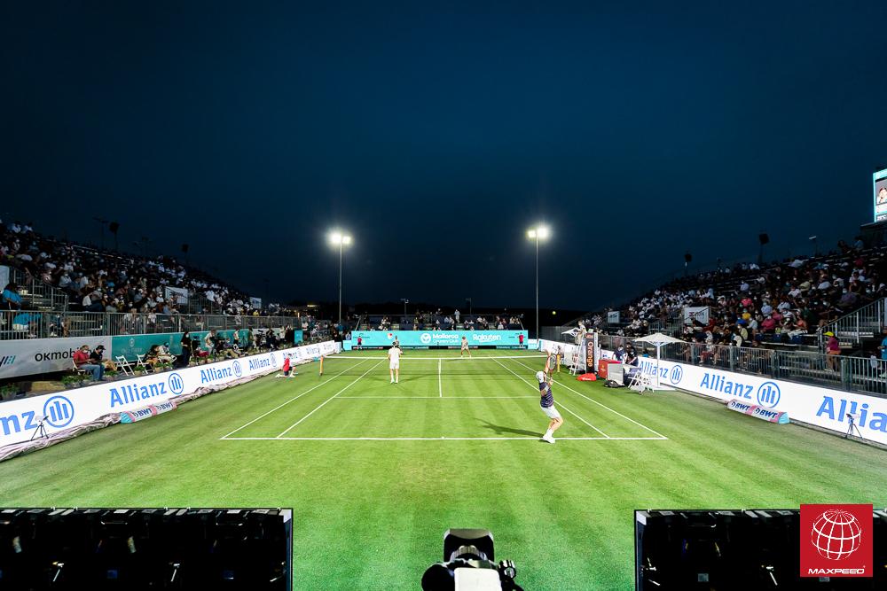 Maxpeed by Enerluxe en la pista central del torneo ATP 250 disputado en el Mallorca Country Club